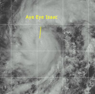 Hurricane Isaac in the East Atlantic