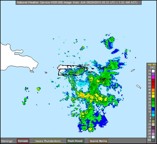 Erika (2015)  Approach Puerto Rico Radar Recording