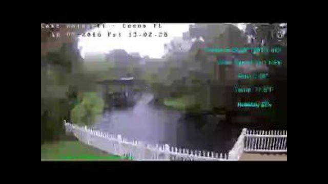 Flhurricane Cocoa Lake Poinsett Canal Cam (Matthew)