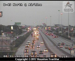 IH-45 North at Airline (Harvey 2017)