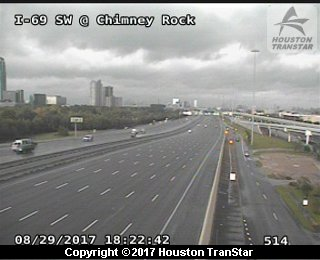 IH-69 Southwest at Chimney Rock (Harvey 2017)