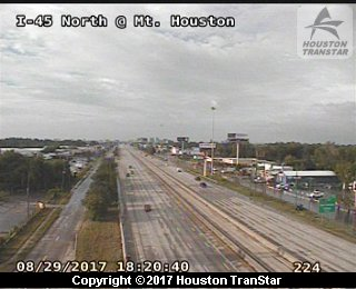 IH-45 North at Mt. Houston (Harvey 2017)