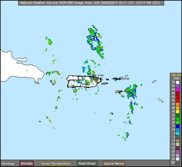 San Juan, PR Long Range Radar Recording of Irma (2017) Approach
