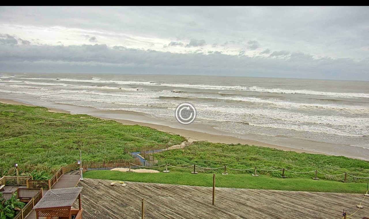 South Padre North Beach Webcam Harvey (2017)