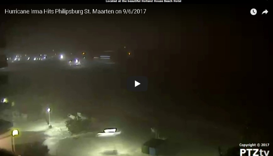 Port Saint Maarten Web Cam Irma  (2017) Approach