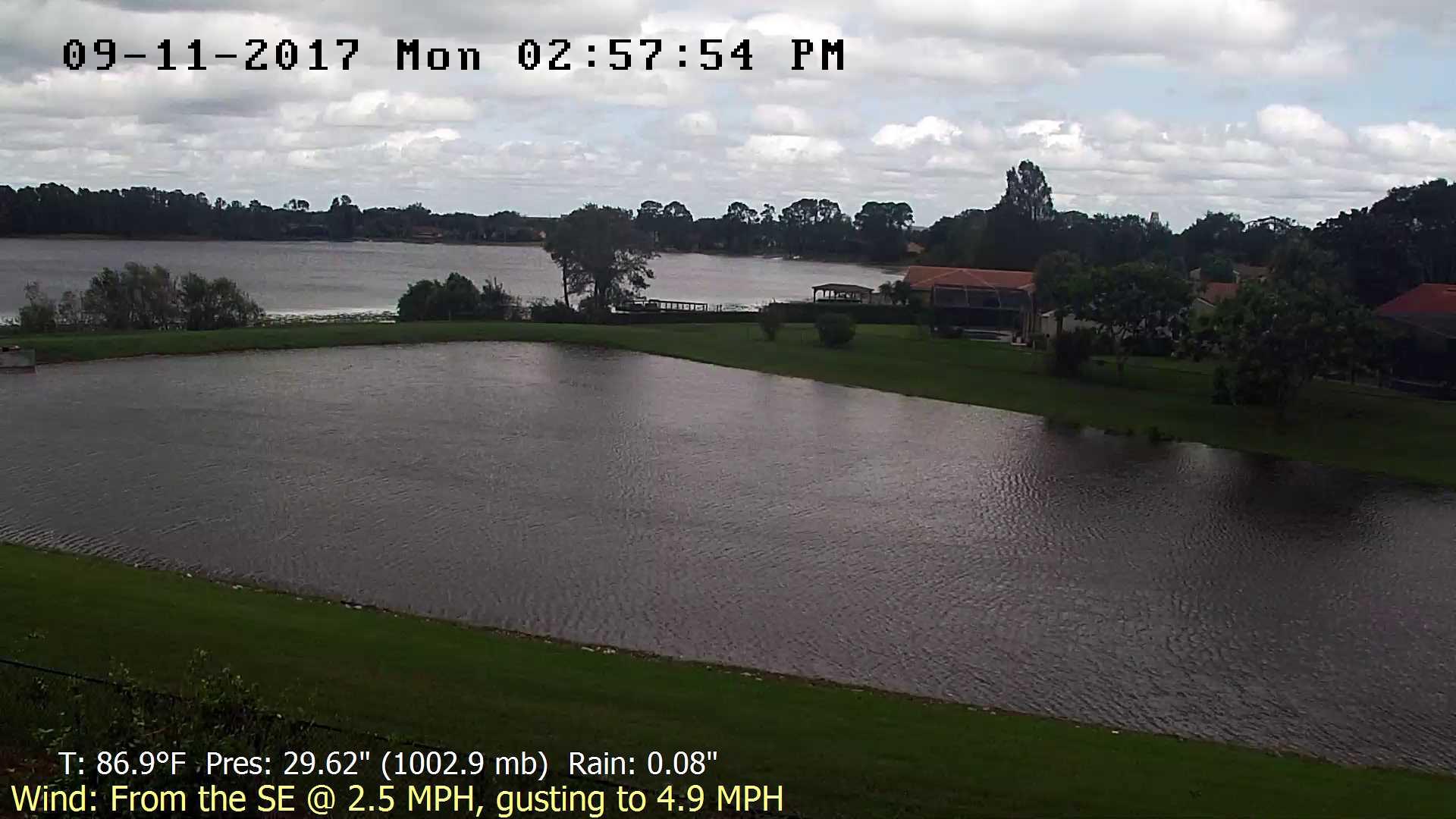 Flhurricane Orlando Lake Marsha Cam recording approach of Irma (2017)