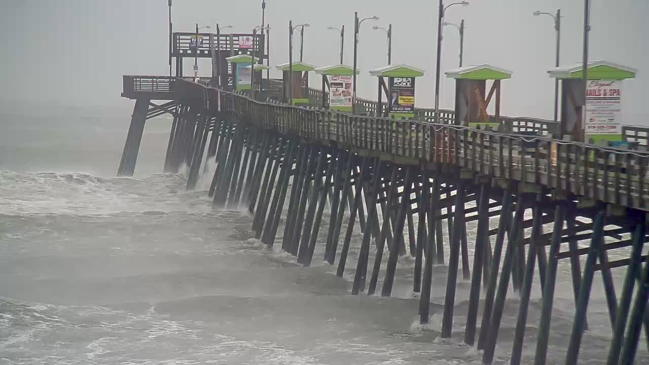 Bogue Inlet Pier Cam (Emerald Isle, NC) for Florence Approach (2018)