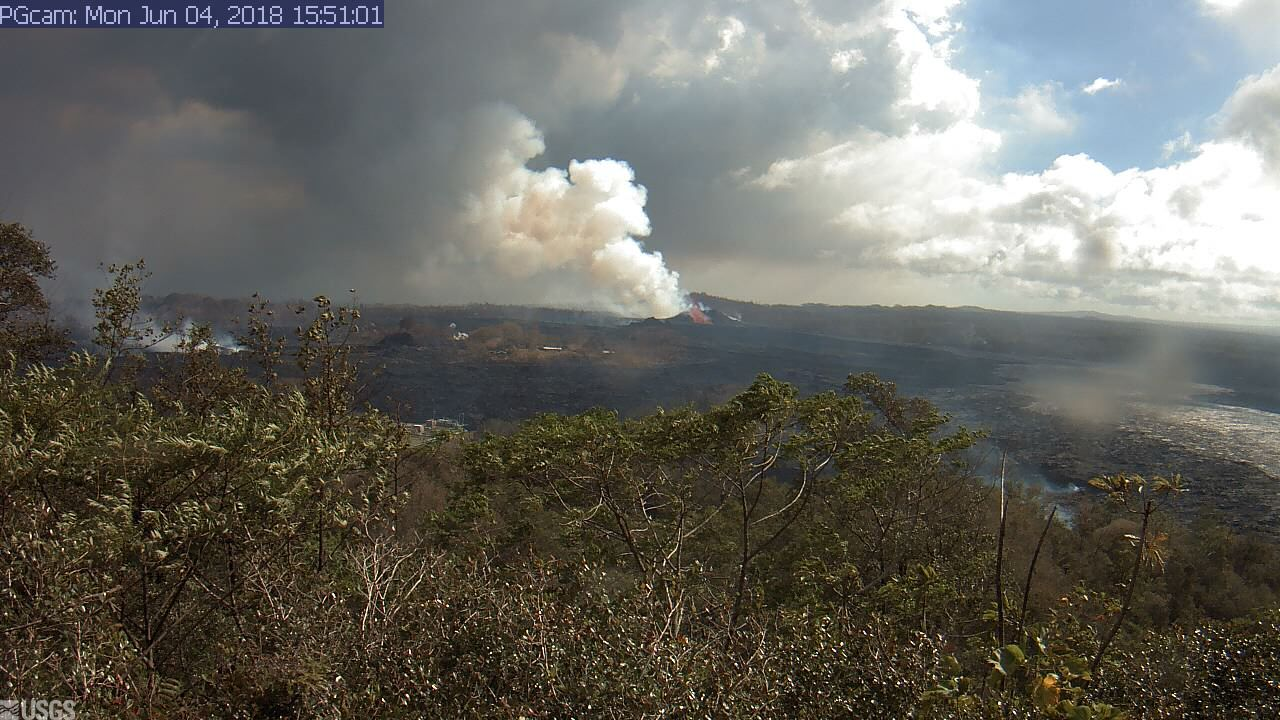 Part 2 Panorama of Lower East Rift Zone Camera from Lower East Rift Zone May 27th - June 4 (2018)