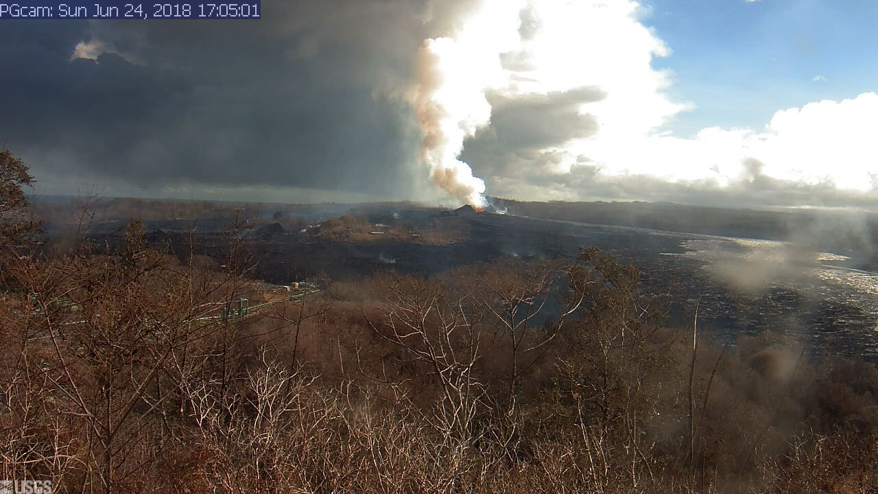 Part 4 Panorama of Lower East Rift Zone Camera from Lower East Rift Zone June 11th-24tn  (2018)