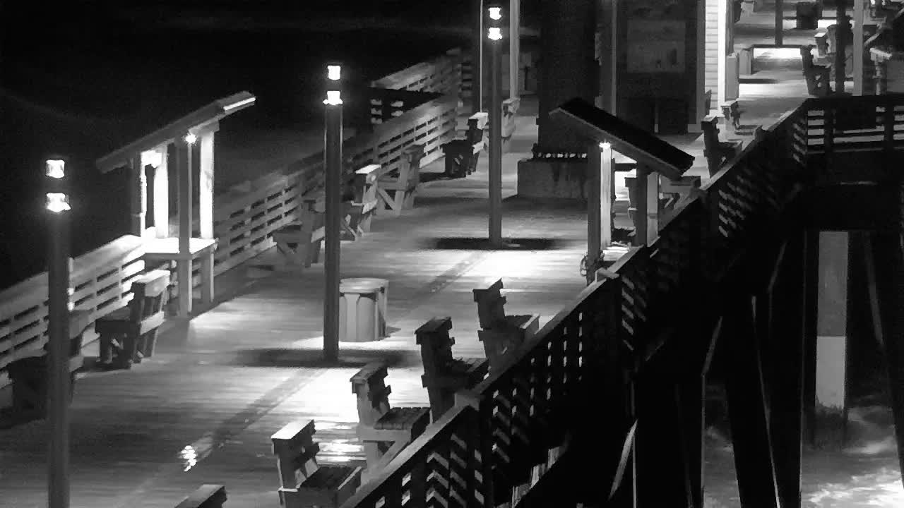 Jennette's Pier Nags Head, NC Cam for Florence Approach (2018)