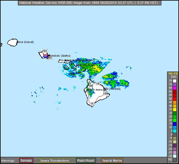Kohala, HI  Long Range Radar Recording of Lane (2018) Approach