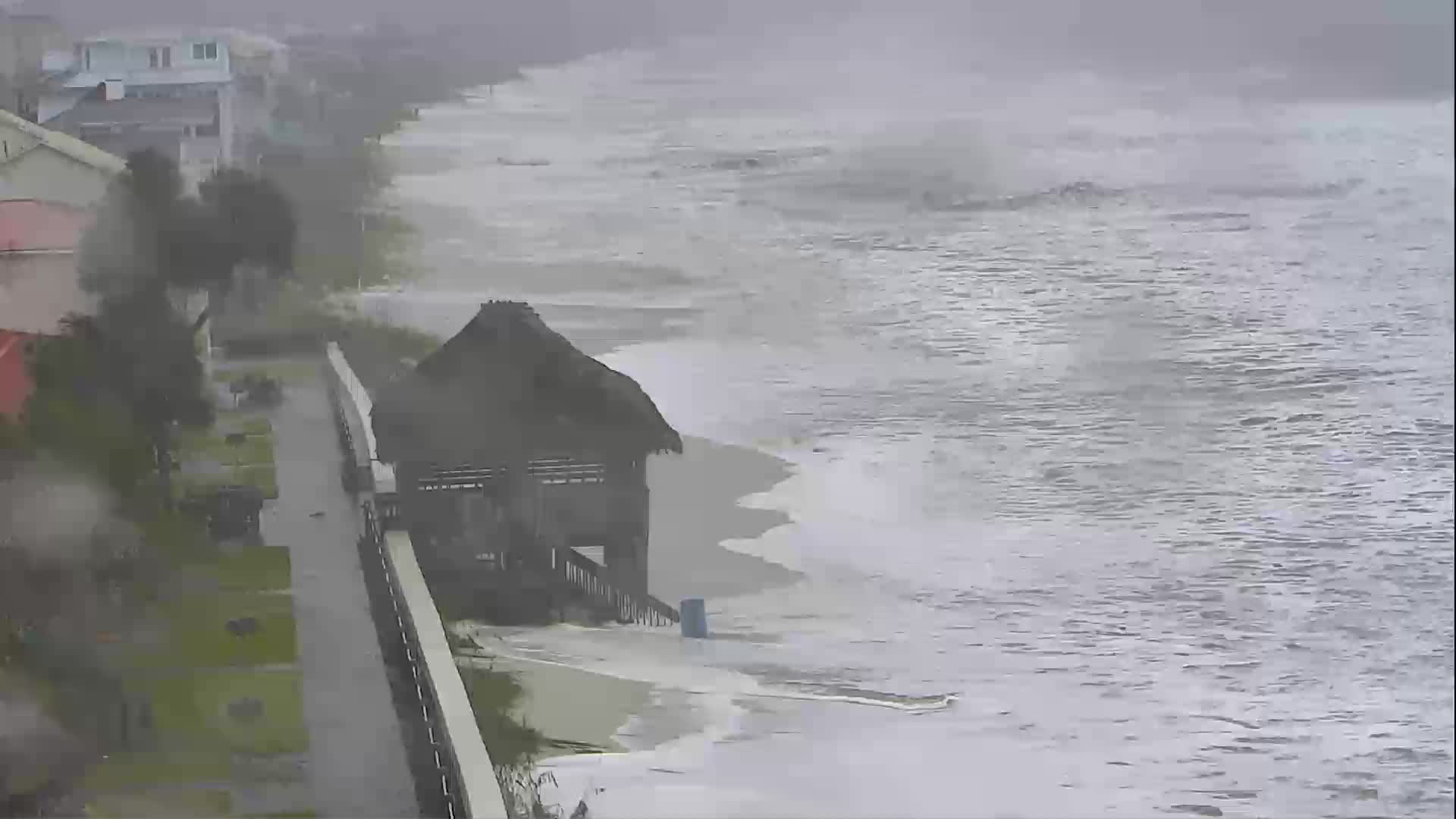 Mexico Beach FL Webcam Recording Michael (2018)