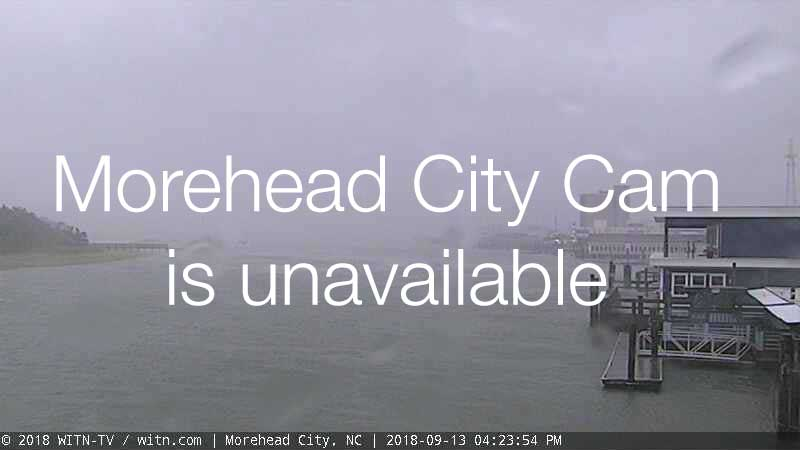 Morehead City Cam for Florence Approach (2018)
