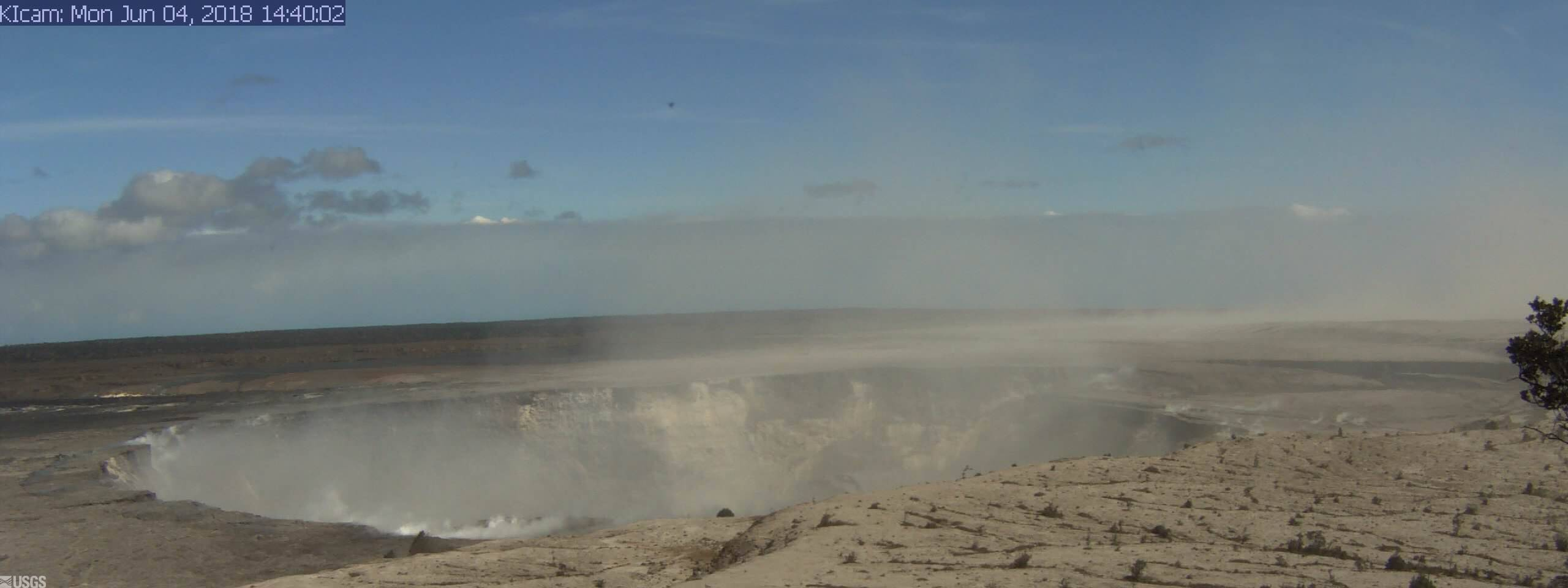 Panorama of Kīlauea Caldera from HVO Observation Tower (2018)
