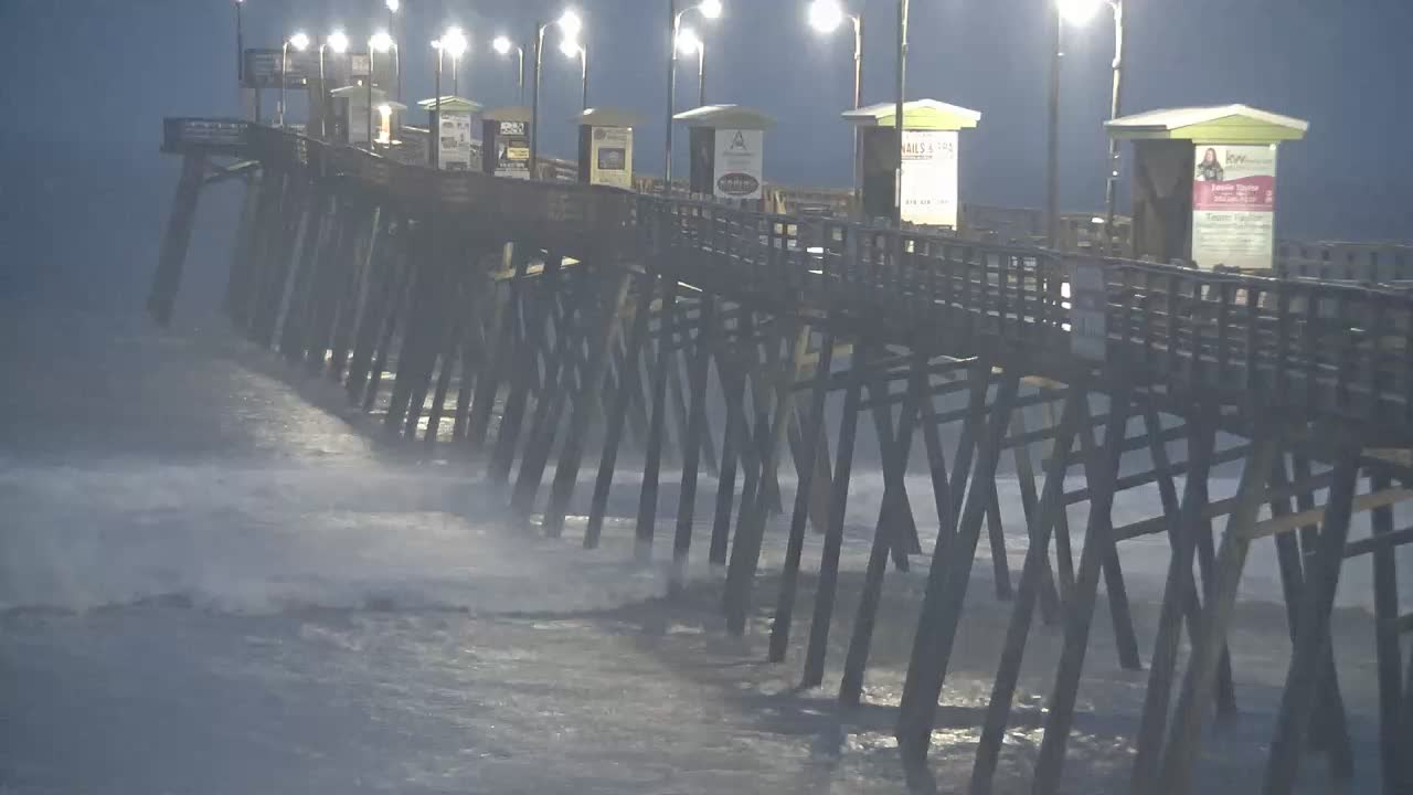 Bogue Inlet Pier Cam (Emerald Isle, NC) for Dorian Approach (2019)