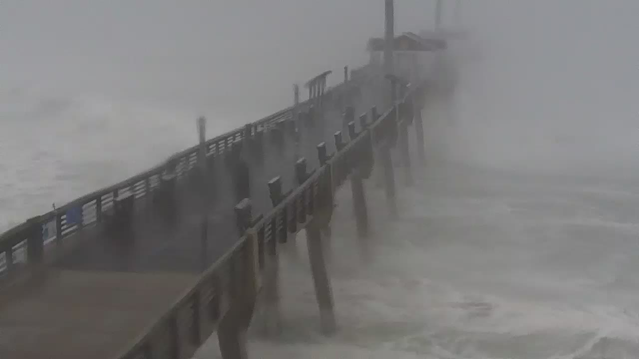 Jennette's Pier Nags Head, NC Cam for Dorian Approach (2019)