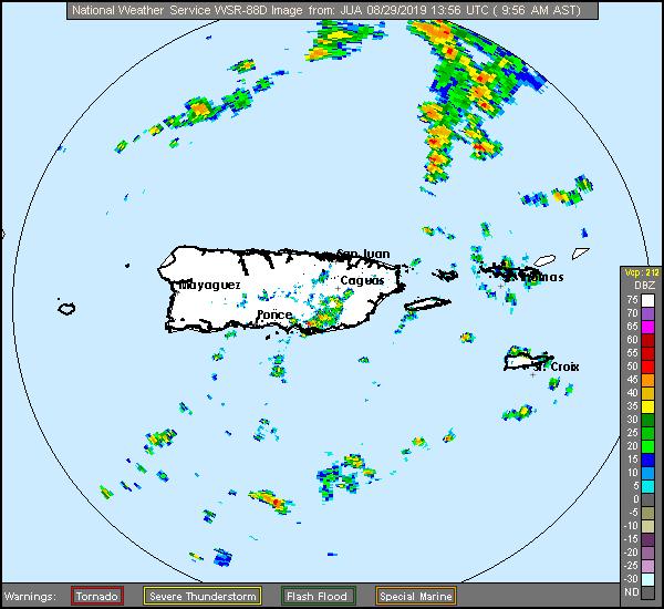 San Juan Radar Recording of Dorian (2019) Approach