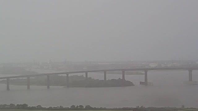 Lake Charles Bridge Camera Recording Laura (2020)