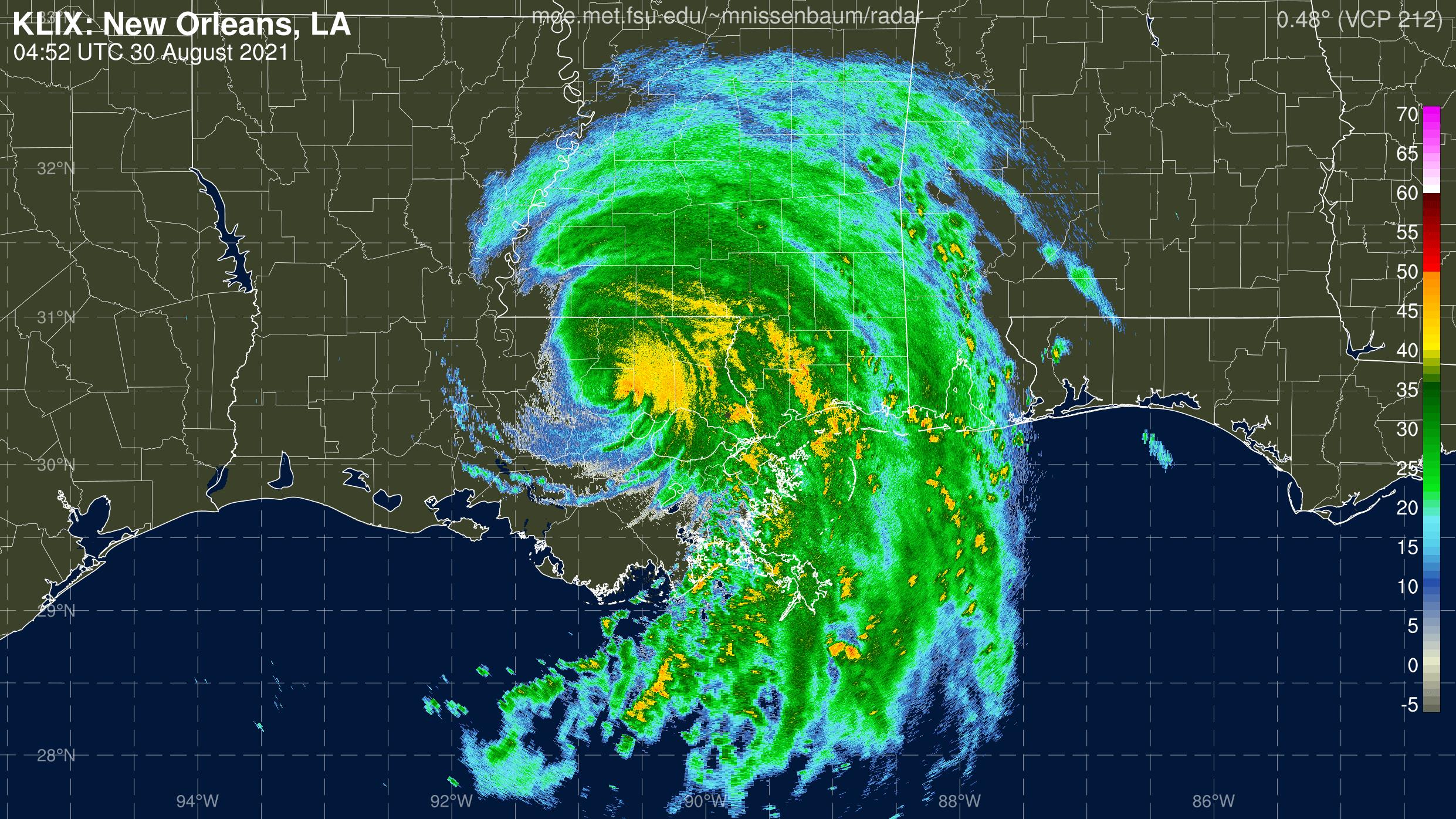 New Orleans Radar Recording From Marc Nissenbaum for Ida (2021)