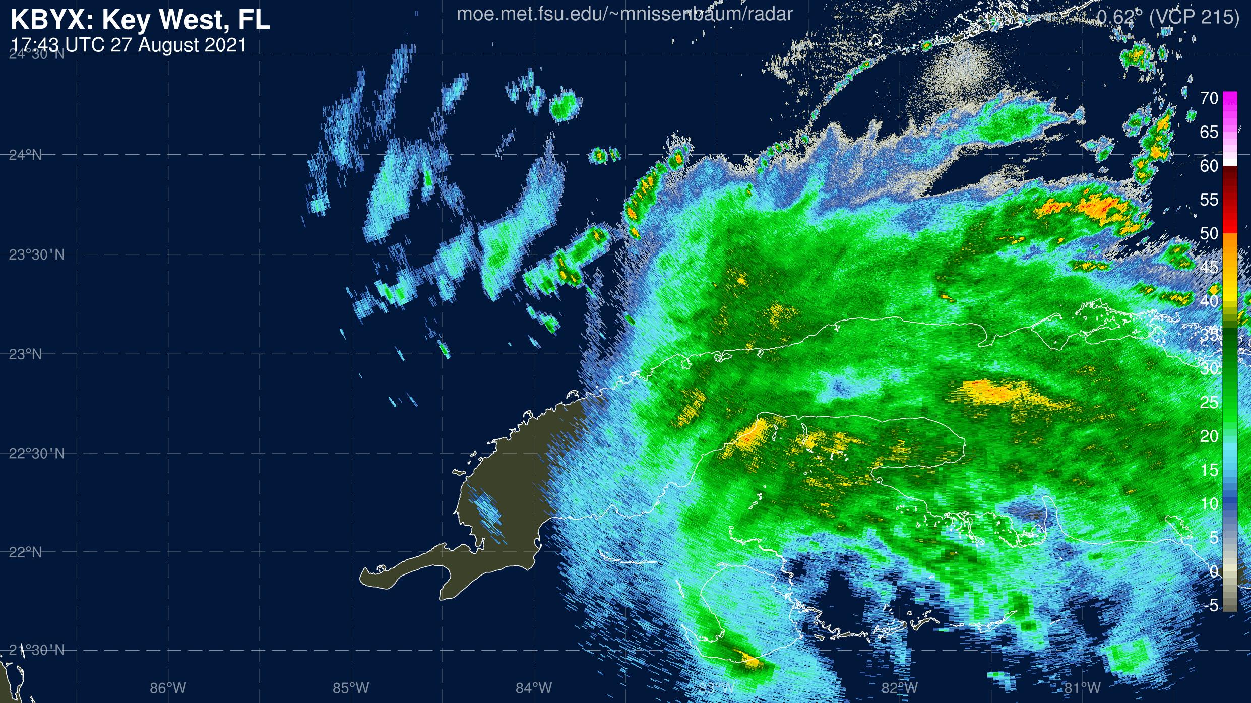 Key West Radar Recording From Marc Nissenbaum for Ida (2021)