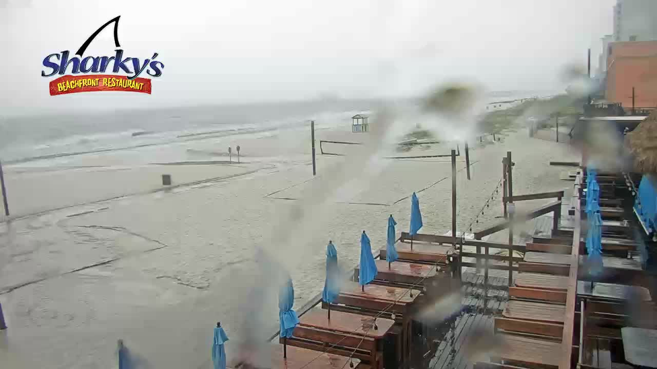 Sharky's Beachfront Restaurant PCB Beach Cam Fred (2021)